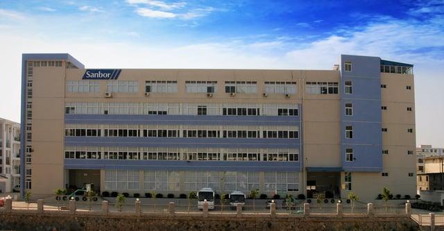 Front of Sanbor Medical's Xiamen, China Factory